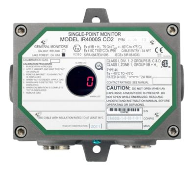 IR4000S-CO2 Single Point Gas Monitor